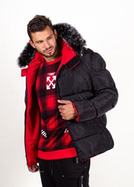 Изображение Куртка двухсторонняя с мехом на капюшоне MFStore
