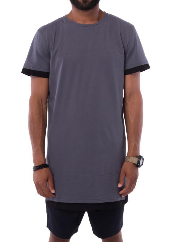 Изображение Удлиненная серая футболка MIKO