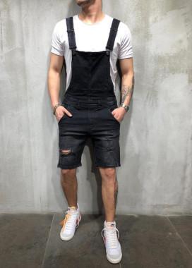 Изображение Комбинезон шортами черный MFStore