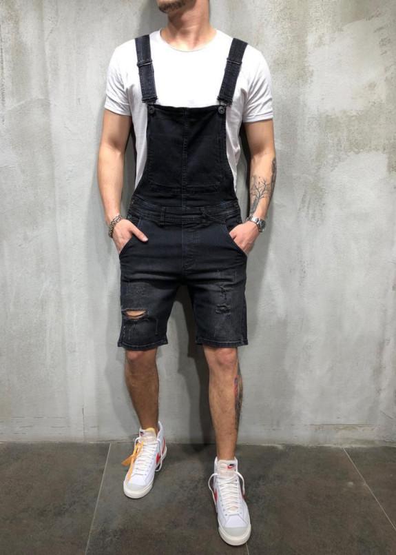 Изображение Комбинезон шортами серый MFStore
