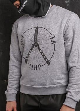Изображение Свитшот мужской серый ТУР Мы за мир Tur streetwear