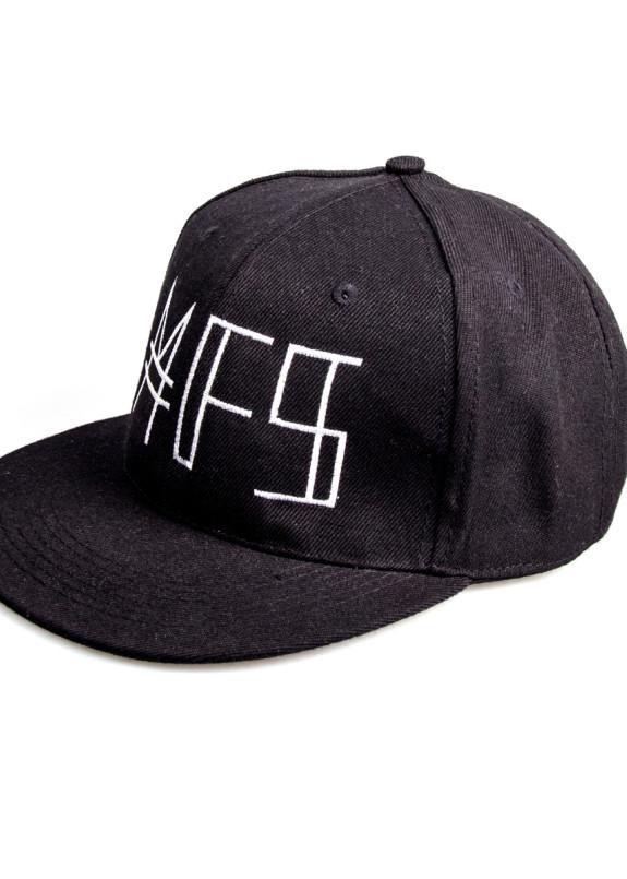 Изображение Кепка черная с белым лого MFS
