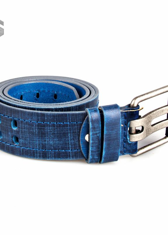 Изображение Ремень кожаный синий Gonzo