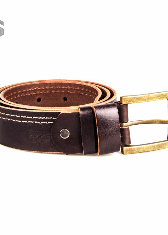 Изображение Ремень кожаный темно-коричневый Gonzo