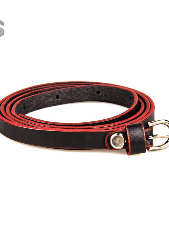 Изображение Ремень красно-черный с пряжкой Gonzo