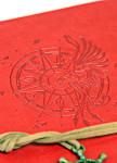 Изображение Блокнот красный с тиснением Компас Aventura