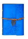 Изображение Блокнот голубой с тиснением Листья Aventura