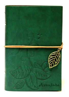 Изображение Блокнот зеленый с тиснением Листья Aventura