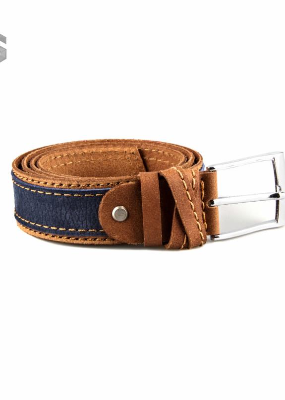 Изображение Ремень кожаный коричнево-синий Gonzo