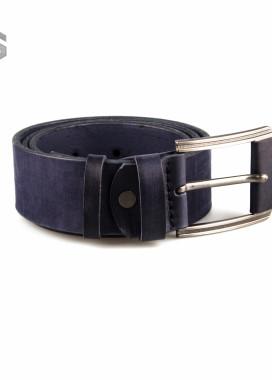 Изображение Ремень кожаный темно-синий Gonzo