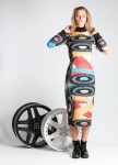 Изображение Платье разноцветное Roussin