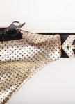 Изображение Сумка на пояс кожаная золотая Roussin