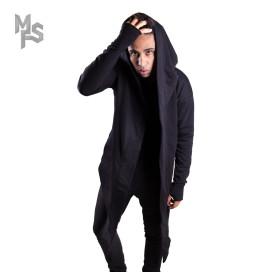 Изображение Мантия черная с асимметричным низом MFS