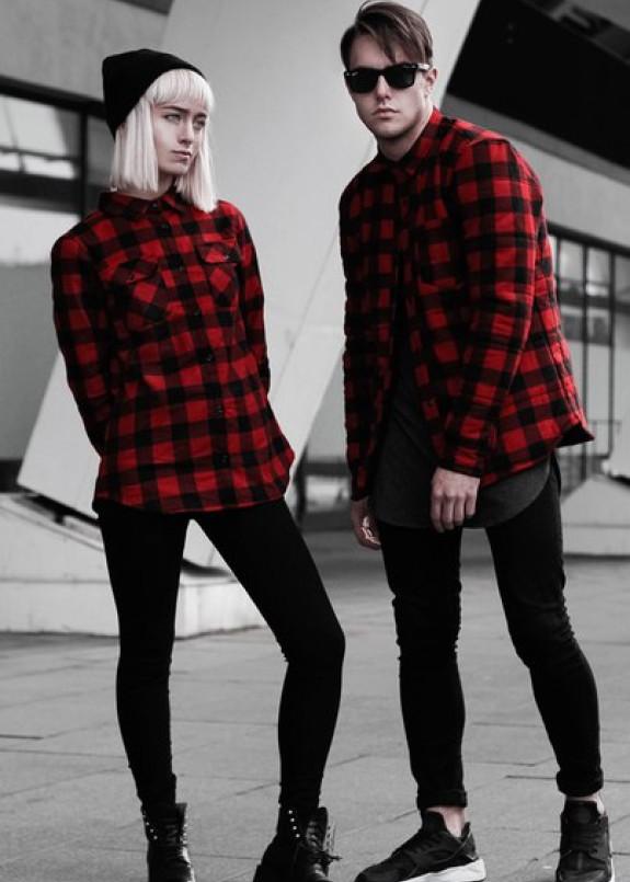 Изображение Рубашка красно-черная в клетку BlackWood