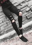 Изображение Джинсы черные рваные Blackwood