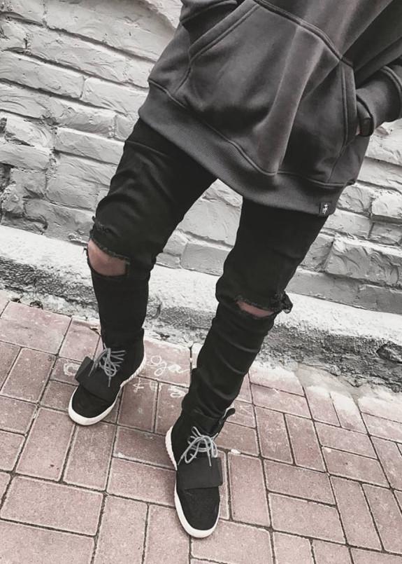 Изображение Джинсы рваные черные Blackwood
