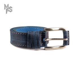 Изображение Ремень темно-синий с декором Gonzo