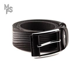 Изображение Ремень кожаный черный с резьбой Gonzo