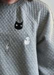 Изображение Свитшот стеганый серый Radio Cat