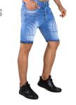 Изображение Джинсовые шорты прошитые полукругом голубые MFStore