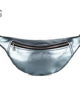 Изображение Сумка на пояс металлик фактурная синяя Mari Mir