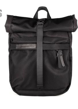 Изображение Рюкзак текстильный с накладным верхом черный Pilsok