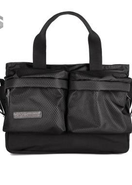 Изображение Сумка большая с двумя накладными карманами Ромб черная Pilsok