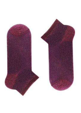 Изображение Носки короткие с люрексом бордовые SOX