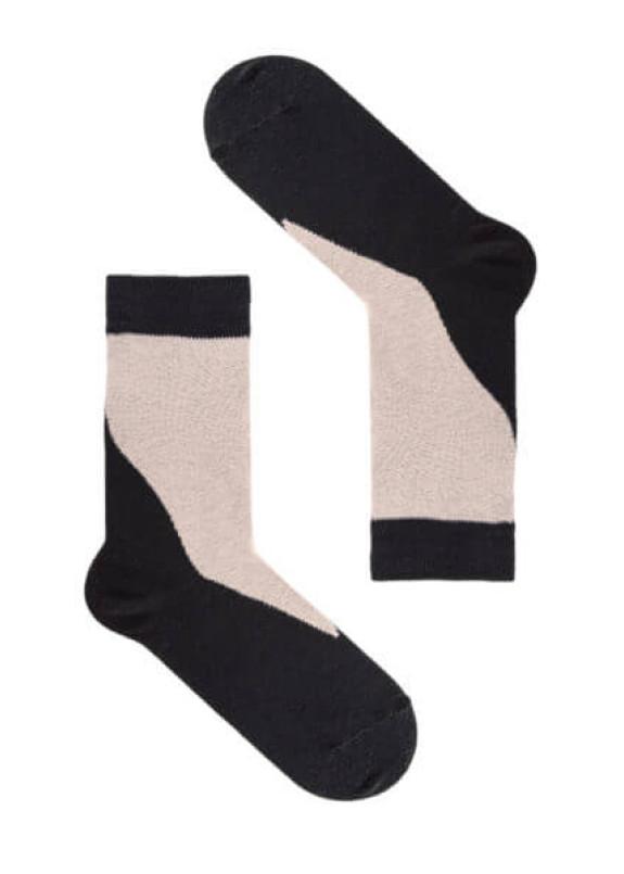 Изображение Носки черные с бежевым WAVE SOX