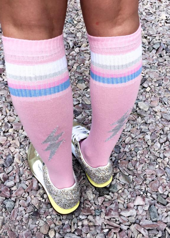 Изображение Гетры розовые Молния SOX
