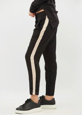 Изображение Брюки женские черные Stripe Beige BANG