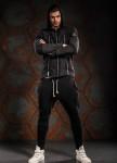 Изображение Худи мужское с тремя молниями черное MFStore