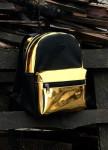 Изображение Рюкзак женский золотой с черным Radio Cat