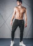 Изображение Джинсы мужские с молнией сбоку зеленые MFStore