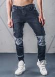 Изображение Джинсы мужские со вставками на коленях черные MFStore