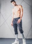Изображение Джинсы мужские со вставками снизу черные MFStore