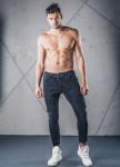 Изображение Джинсы мужские с рифлением на резинке черные MFStore