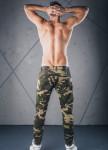 Изображение Джинсы камуфляж с жатыми штанинами зеленые MFStore