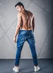 Изображение Джинсы с молниями и манжетами синие MFStore