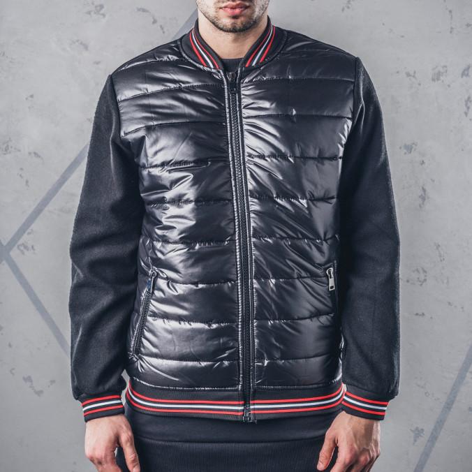 Изображение Бомбер мужской с плащёвкой черный MFStore
