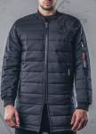 Изображение Пальто мужское утепленное черное MFStore