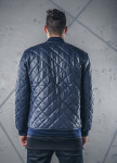 Изображение Куртка утепленная перфорированная стеганая ромбом синяя MFStore