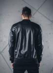 Изображение Куртка из эко-кожи с перфорацией черная MFStore