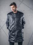 Изображение Пальто мужское с молниями и пропиткой черное MFS BRAND