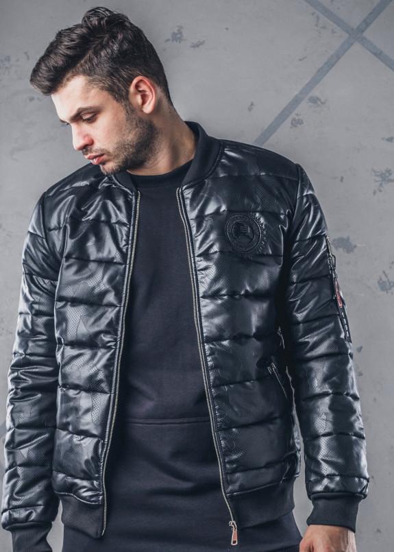 Изображение Куртка утепленная с перфорацией черная MFStore