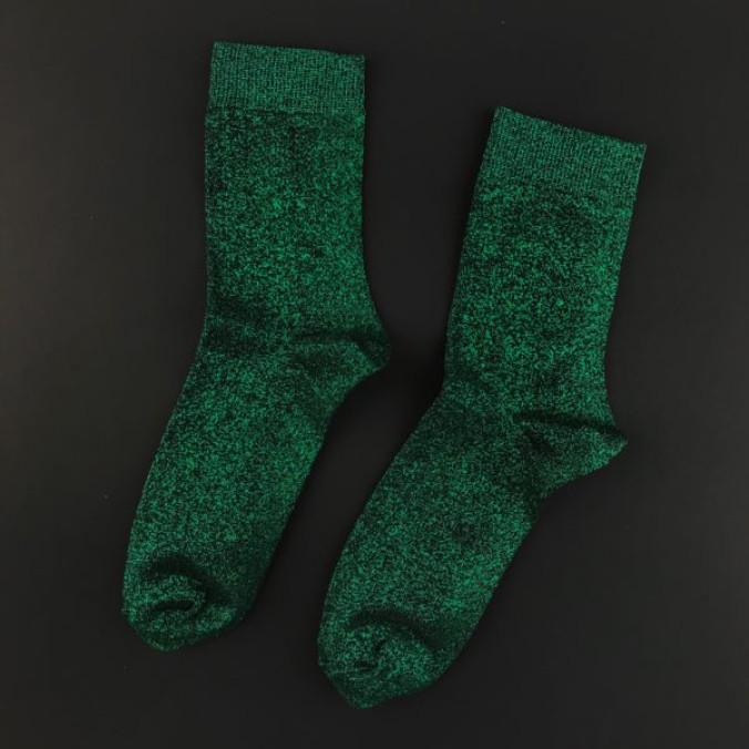 Изображение Носки с люрексом зеленые GREEN DUST SOX
