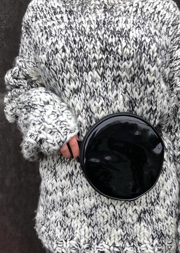 Изображение Бананка круглая лакированная черная Radio Cat