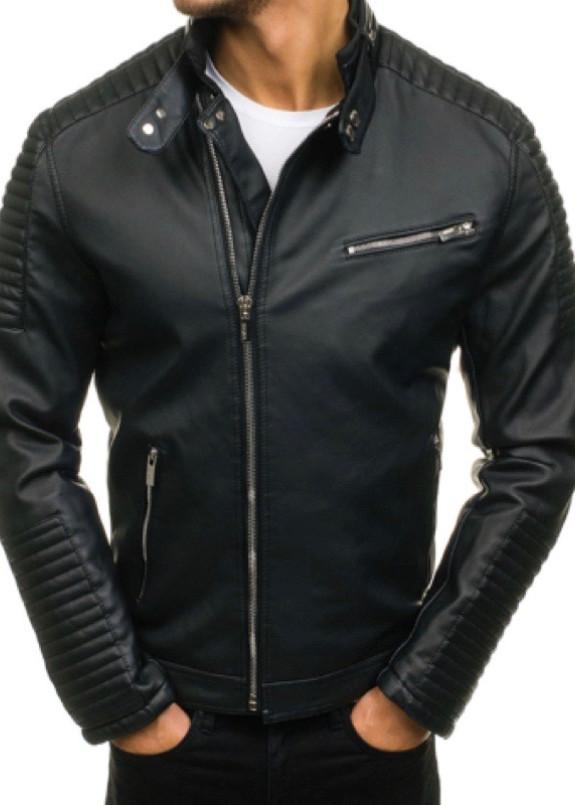 Изображение Косуха мужская с рифлением на рукавах черная MFStore