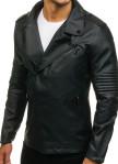 Изображение Косуха мужская классическая с рифлением на рукавах черная MFStore