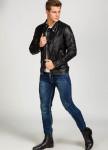 Изображение Куртка мужская из эко-кожи черная MFStore